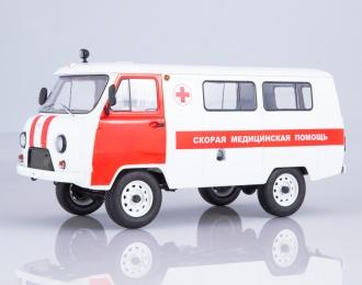 УАЗ-3962 Скорая помощь, белый / красный