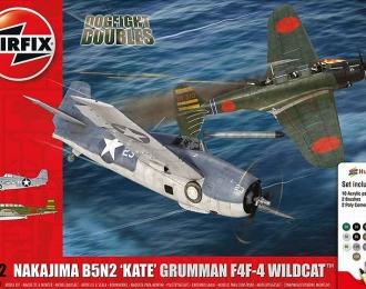 Сборная модель Самолеты японский Nakajima B5N2 'Kate' и американский Grumman Wildcat F4F4 (Подарочный набор)