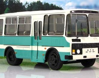 ПАЗ-3205 пригородный автобус, белый / голубой