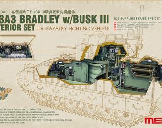 Сборная модель Интерьер для американской БМП M3A3 BRADLEY w/Busk III