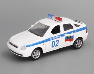ВАЗ 2172 Приора Хэтчбек Полиция, белый