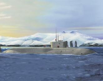 Сборная модель Подводная лодка Russian Navy Project 955 Borei-Yuri Dolgoruky SSBN