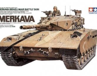 Сборная модель Израильский танк Merkava с 105-мм пушкой и 1 фигурой танкиста