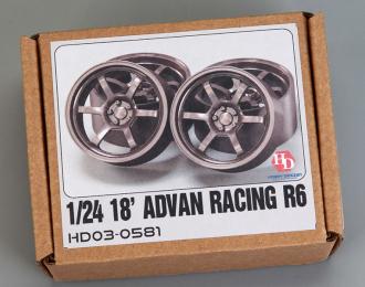 1/24 18 Advan Racing R6Wheels (Resin+Metal Wheels+Decals)