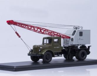 Автокран К-51 (МАЗ-200), зеленый / серый