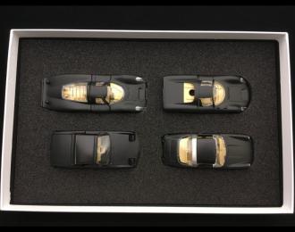 Set Porsche RAK 911 Targa / 914 / 907 / 910 black / crystal headlights 1/43 Märklin