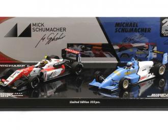 2-CAR SET - REYNARD SPIESS F903/DALLARA MERCEDES F317 - MICHAEL/MICK SCHUMACHER - MACAU 1990/2018