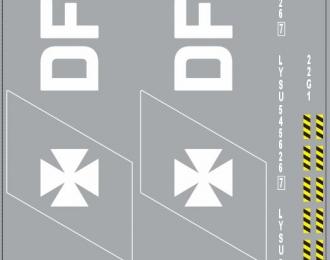 Набор декалей 0086 Контейнеры DFDS (100х140)