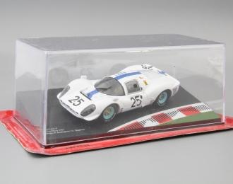 FERRARI 412 P 24h Le Mans Drivers: P.Rodriguez / G.Baghetti #25 (1967), white