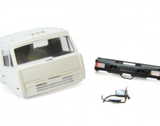 Спальная кабина для КАМАЗ (Евро-2, пластиковый бампер), белый
