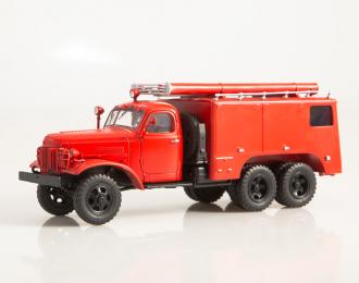 Пожарный автомобиль химического пенного тушения ПМЗ-16, красный