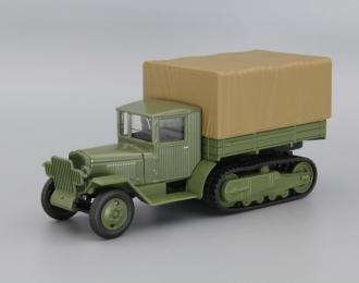 ЗИС-42 бортовой с тентом, зеленый