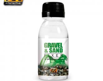 Закрепитель для гравия и песка на диорамах