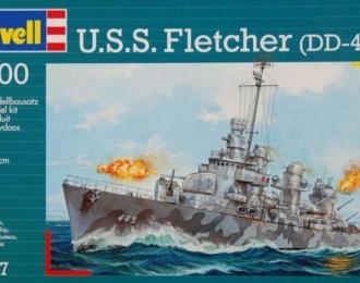 Сборная модель Американский эсминец USS Fletcher (DD-445)