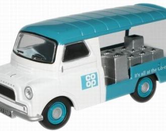 BEDFORD CA Milk Float Co-op 1968, белый с голубым