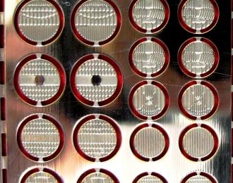 Фототравление Набор отражателей фар, никелирование