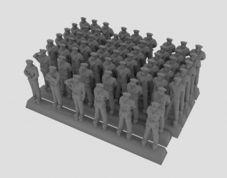 Сборная модель Фигурки моряков кригсмарине в летней форме, набор №2