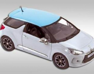 CITROEN DS3  boticcelli roof 2010, white with blue