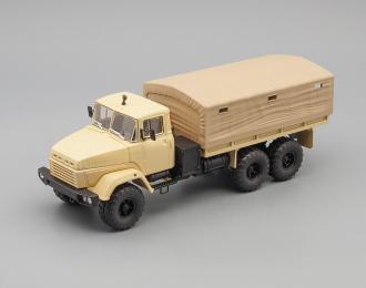 КРАЗ 260 бортовой с тентом (1989), песочный