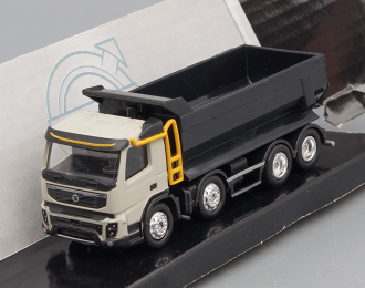 VOLVO FMX 500 Twin Steer Dump Truck, grey / black