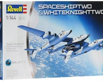 """Сборная модель Суборбитальный космический корабль """"SpaceShipTwo"""" и реактивный самолет"""