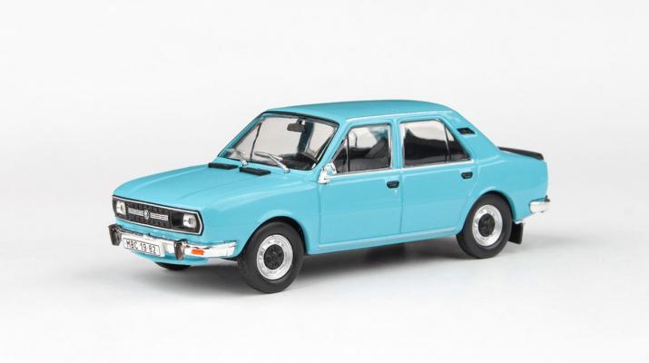 Škoda 120L 1982 Modrá Světlá - Abrex 1:43 časopis