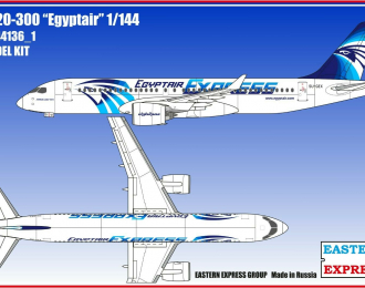 Сборная модель Авиалайнер А220-300 Egyptair ( Limited Edition )