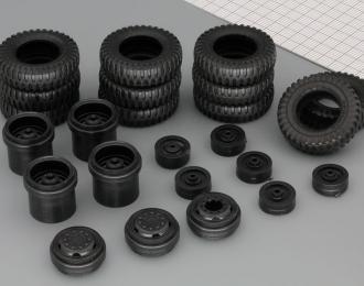 Резина, диски для ЯАЗ 210, комплект из 11 колес