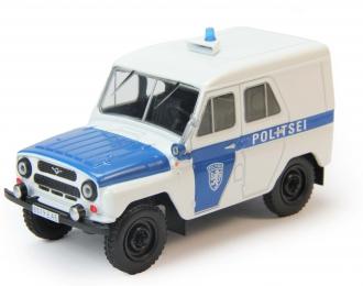 УАЗ 469 Полиция Эстонии, Полицейские Машины Мира 74, бело-голубой