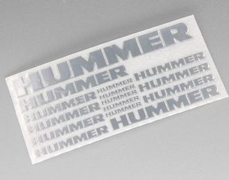 Наклейка объёмная металлизированная логотипы Hummer