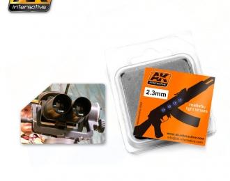 Линзы прозрачные OPTIC COLOUR  2,3mm