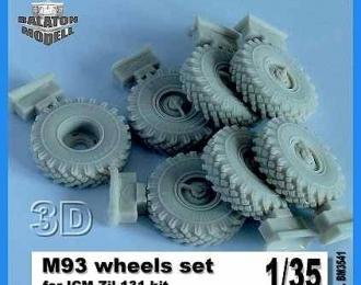 Набор для доработки Колеса с покрышками М-93 для ZIL-131 (ICM)