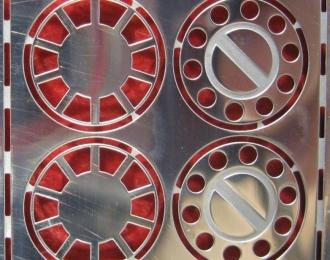 Фототравление Передние колпаки МАЗ (блестящий никель)