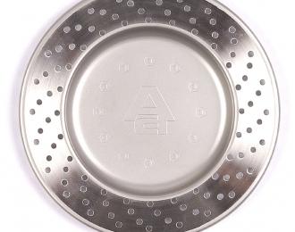 """Блюдце / пепельница """"тормозной диск"""" (D=13см), нержавеющая сталь"""
