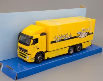 "VOLVO FH12 фургон ""Wortart march"", yellow"