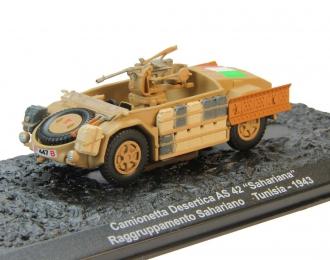 "Camionetta Desertica AS 42 ""Sahariana"" Raggruppamento Sahariano Tunisia (1943), Автомобиль на Службе Спецвыпуск"