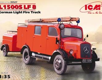 Сборная модель Германский легкий пожарный автомобиль L1500S LF 8, German Light FireTruck