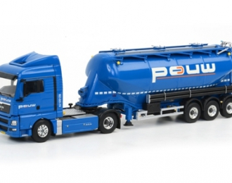 MAN TGX XLX bellied powder tanker, Premium Line 1:50, синий