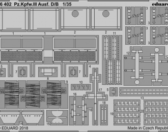 Фототравление для Pz. Kpfw. III Ausf. D/ B