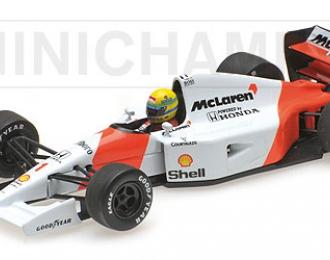 McLAREN Honda MP 4-7 Ayrton Senna (1992), white / red