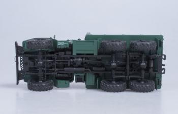 Уральский грузовик 375Д бортовой, зеленый