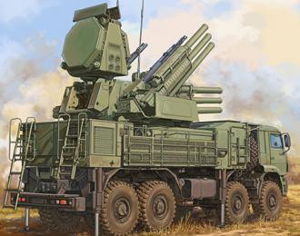 Сборная модель ЗРК Russian 72V6E4 Combat Unit of 96K6 Pantsir-S1 ADMGS(w/RLM SOC S-band Radar)
