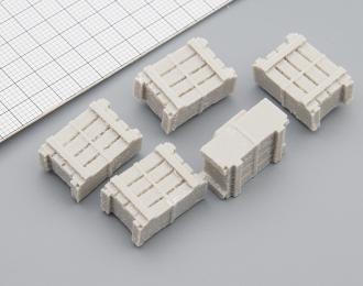 Ящики деревянные средние (730 x 500 x 340 мм), комплект 5 шт.