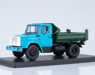 ЗИЛ-ММЗ-45085 самосвал, голубой / зеленый