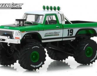 """FORD F-250 Monster Truck Bigfoot #19 """"GreenLight Racing Team"""" 1974"""