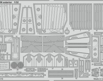Edurad Набор фототравления P-40N экстерьер