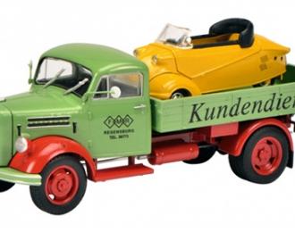 """Borgward B2500 """"Messerschmitt-Service"""" with Messerschmitt Kabinenroller, L.e. 1000 pcs."""