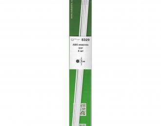 ABS пластик круг 2 мм - длина 250 мм - 5 шт
