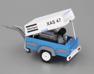 Компрессор Atlas Copco XAS 47 (открытый на прицепе), белый / синий