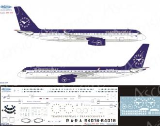 Декаль на самолет Туполев -204-100 (Transeuropean)